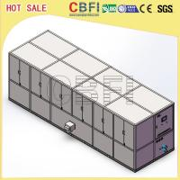 China Stainless Steel 304 Ice Cube Making Machine / R22 R404a Refrigerant Commercial Ice Maker wholesale
