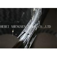 China Heavy Protecting Razor Barbed Wire , Concertina Razor Blade Barbed Wire wholesale
