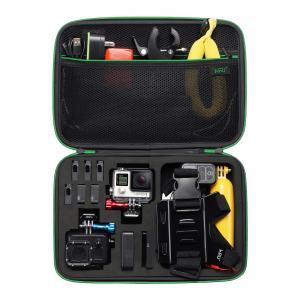 China Black Large Camera Carrying Case , Portable Nylon EVA Travel Camera Case wholesale