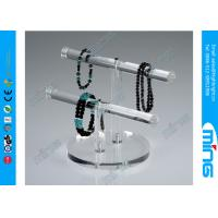 China Necklace Double T-Bar Acrylic Display Holders for Retail Stores on sale