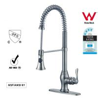China Sanitary Ware Singe Handle kitchen Faucet with Pull out Tap ODM / OEM wholesale