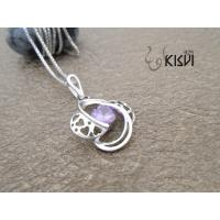 China Fashion Jewelry 925 Sterling Silver Gemstone Pendant with Zircon W-VB925 wholesale