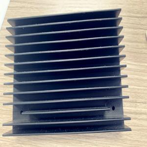 China 6063 T6 Extruded Aluminum Enclosures Heatsink Black Anodizing CNC Machining wholesale