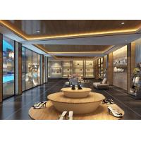 Quality Fashion Showroom Display Cases / Shoe Display Unit Wooden Plus Metal Material for sale