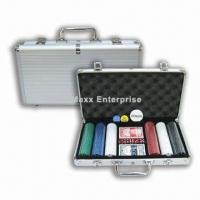 China Round Corner Chip Set with Aluminum Case and 300pcs, 11.5g Poker Chips on sale