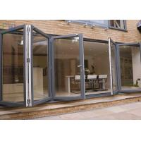China Heat Insulation Aluminium Folding Doors Corrosion Resistance With Insect Screen wholesale