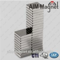 China Strong Block N50 Rare Earth Magnet 15mm x 10mm x 1.5mm on sale