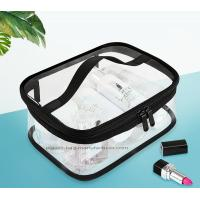 Buy cheap Double Pullers Portable Clear PVC Makeup Bag Zippered Waterproof Cosmetic Bag from wholesalers