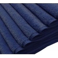 China Dark Blue Color Microfiber Auto Detailing Towels 16*16inch 300gsm Best Quality on sale