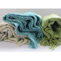 China Acrylic Fibers Couch Throw Blanket Country Style Woven For Couches OEM wholesale