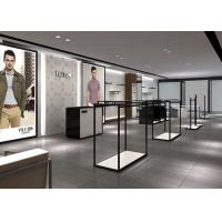 China Modern Fashion Style Retail Display Fixtures Men Clothing Display Systems wholesale