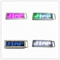 China Programmable LED Belt Buckle for Sale on sale