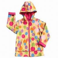 China Children's PU Raincoat with 100% Polyester Lining wholesale