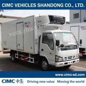 China ISUZU 4*2 1.4Ton Insulated sandwich panel Insulated van refrigerated truck body CKD wholesale