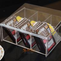 China 4mm Food Display Case Clear Acrylic Storage Trays With 6 Lattices wholesale
