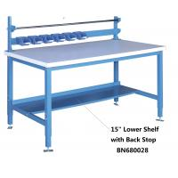 China 15 Inch Lower Shelf With Back Stop , Heavy Duty Steel Workbench High Strength wholesale