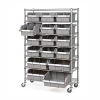 China Restaurant Supplies Strorage Mobile Wire Utility Cart 7 Layer Adjustable Every Shelf Height wholesale