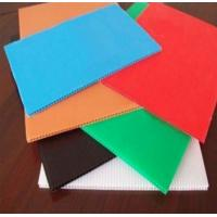 China Colorful PP Rigid Twin Wall Corrugated Plastic Sheet Correx Floor Protection Sheets wholesale