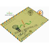 China Standard Size Kraft Paper Custom Printed Envelopes With UPC Barcode Printing Edge wholesale