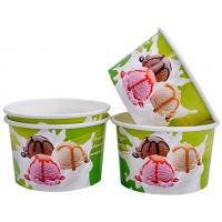 Single Wall Frozen Yogurt Paper Cups , Paper Ice Cream Pint Containers