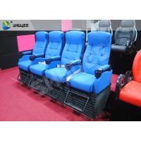 China Blue 4 Seats 1 Sets 4D Home Cinema Equipment With Foot Support wholesale