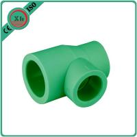 China Green / White Ppr Reducing Tee Unequal Tee Plumbing Piping 20 - 110 MM Size wholesale