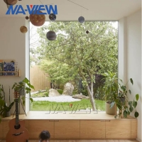 China NAVIEW SGS Black Frame Picture Window Powder Coated Surface wholesale