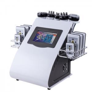 China 6 In 1 RF Cavitation Vacuum Laser Reduce Cellulite Machine Body Slimming Device wholesale