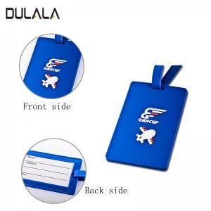 China Custom soft PVC Travel Luggage Tag Cartoon Silicone Luggage Name Tag with plastic Buckle wholesale