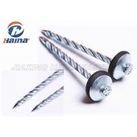 Quality Zinc Plated Q195 Umbrella Head Roofing Nails Smooth Shank / Twist Shank for sale