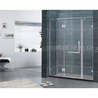 China Customized 8MM Tempered Glass Shower Door 304 Stainless Steel Swing Hinge Bathroom wholesale