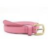 China Sweet Candy Color Women Belt Stitching Saffiano leather PU belt wholesale