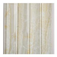 China Marble Design Waterproof Wood Paneling For Bathrooms Four Wave Three Groove wholesale