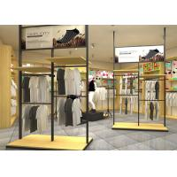 China Adjustable Metal Retail Clothing Racks Black Color For Retail Shop Display wholesale