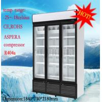 China 1260 Liter Commercial Glass Display Freezer 5 Tiered With Environmental Protection wholesale