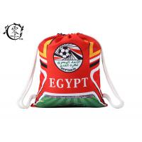 China World Cup Egypt Soccer Printed Drawstring Backpack Large Sized With Thick Cotton Ropes wholesale