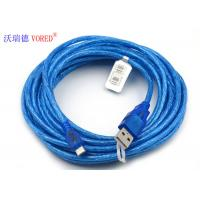 China Blue Transparent Micro USB Data Cable Micro 5 Pin USB 156g Net Weight wholesale