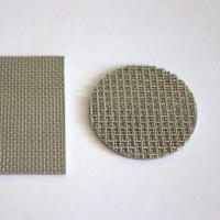China Round Perforated Sintered Metal Filter Disc Cleanable With 1CM - 100CM Width wholesale