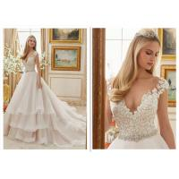 China Ivory Ball Gown Wedding Dress , Ruffle Organza Sweetheart Neckline Ball Gown wholesale