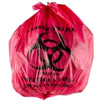 "China 45L Isolation Infectious Recyclable Garbage Bags Red Color 24"" X 24""  High Density wholesale"