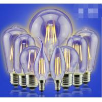 China 6W Edison A60 glass global LED Filament Bulb Candle C35Light E27 A60 cover Sapphire filame wholesale