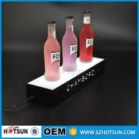 China factory direct sale clear display holder stand, laser cutting thick acrylic customized led base on sale