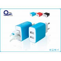 China 5V 2.4A Dual Port Smart Iphone USB Charger For Samsung Cellphone / Mobile Phone wholesale
