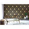Buy cheap Vintage Metallic Textured Wallpaper , Brown Metallic Wallpaper Modern Style Free from wholesalers