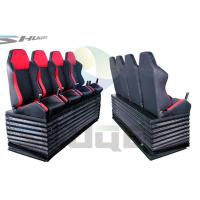 China Hydraulic / Pneumatic / Electromotive Control System 4D / 5D / 7D Motion Theater Chair wholesale