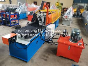 China PLC Control Ω Omega shape Roll Forming Machine With Hydraulic Cutting wholesale