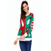 Quality Red Funny Ugly Christmas Snowman Knitting Sweater Designs Ideas For Women for sale