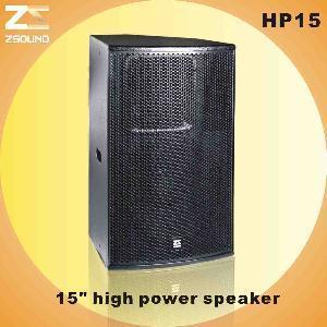 "China HP15 15"" High Power Professional Speaker wholesale"