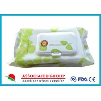 China Plant Based Material Adult Wet Wipes Hypoallergenic Flushable Pre Moistened Cleansing Cloths wholesale