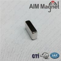 China Strong quality Block Permanent Magnet 10x2x2mm N35 Zinc wholesale